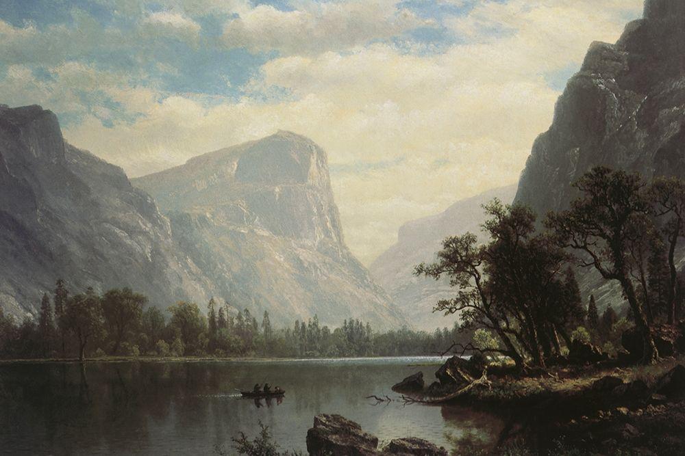 konfigurieren des Kunstdrucks in Wunschgröße Mirror Lake von Bierstadt, Albert