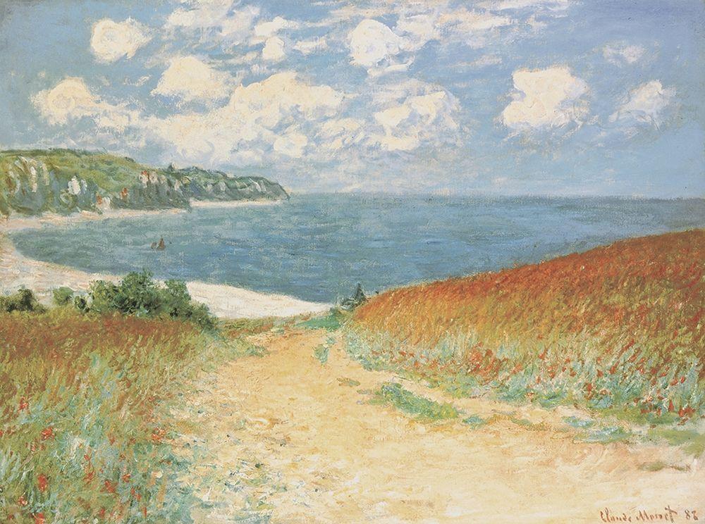 konfigurieren des Kunstdrucks in Wunschgröße Chemin dans les bl Pourville, 1882 von Monet, Claude