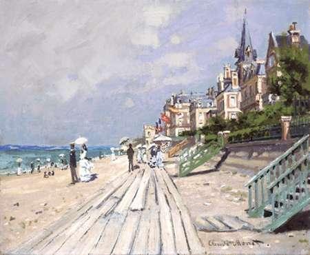 konfigurieren des Kunstdrucks in Wunschgröße Beach at Trouville von Monet, Claude