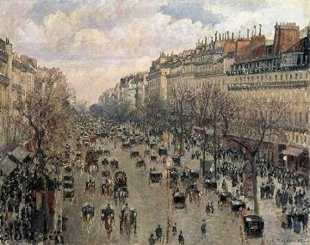 konfigurieren des Kunstdrucks in Wunschgröße Boulevard Montmartre, Afternoon Sun, 1897 von Pissarro, Camille