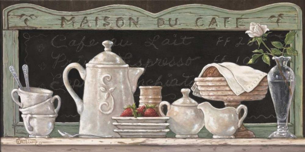 konfigurieren des Kunstdrucks in Wunschgröße Maison Du Cafe von Kruskamp, Janet