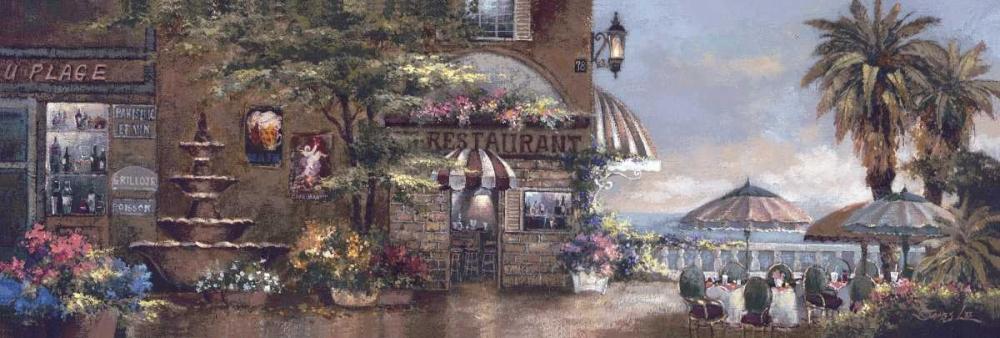 Cafe Walk II von Lee, James <br> max. 183 x 61cm <br> Preis: ab 10€