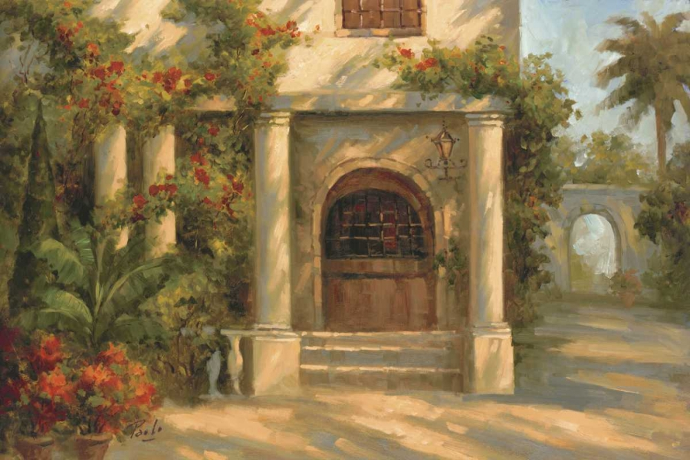 Augustines Courtyard von Bolo <br> max. 165 x 109cm <br> Preis: ab 10€