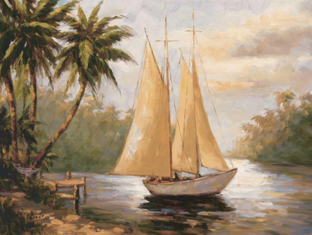 konfigurieren des Kunstdrucks in Wunschgröße Setting Sail II von Bolo