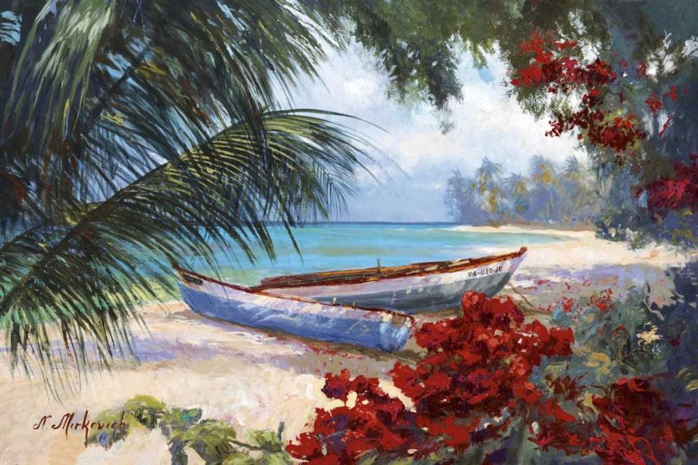 konfigurieren des Kunstdrucks in Wunschgröße Tropical Hideaway von Mirkovich, N.
