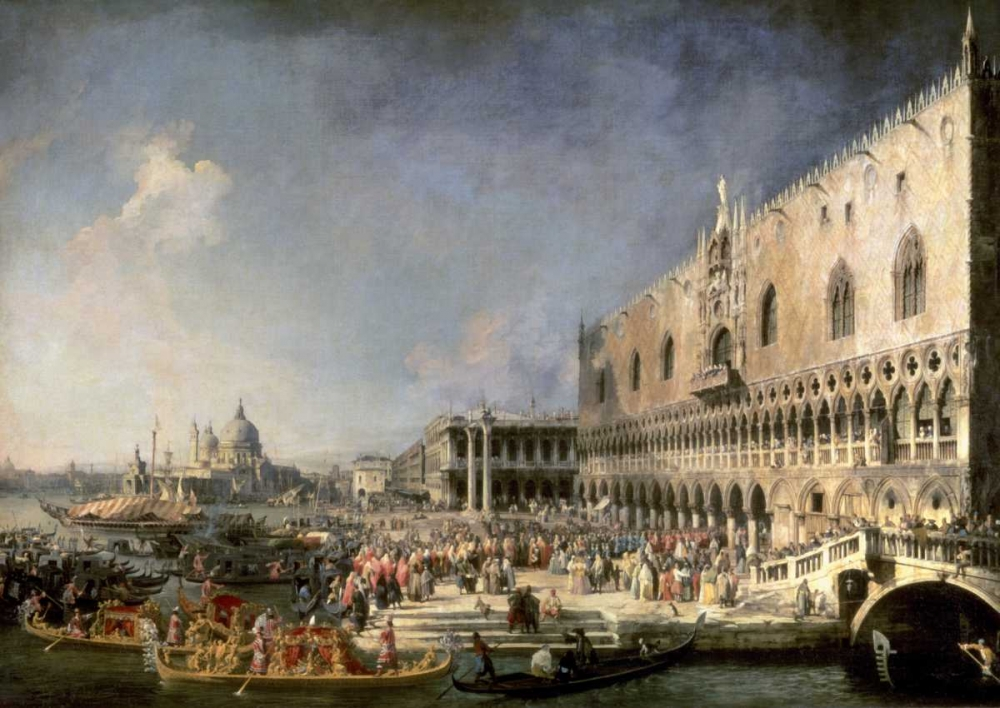 The Reception of the French Ambassador in Venice von Canaletto <br> max. 122 x 86cm <br> Preis: ab 10€