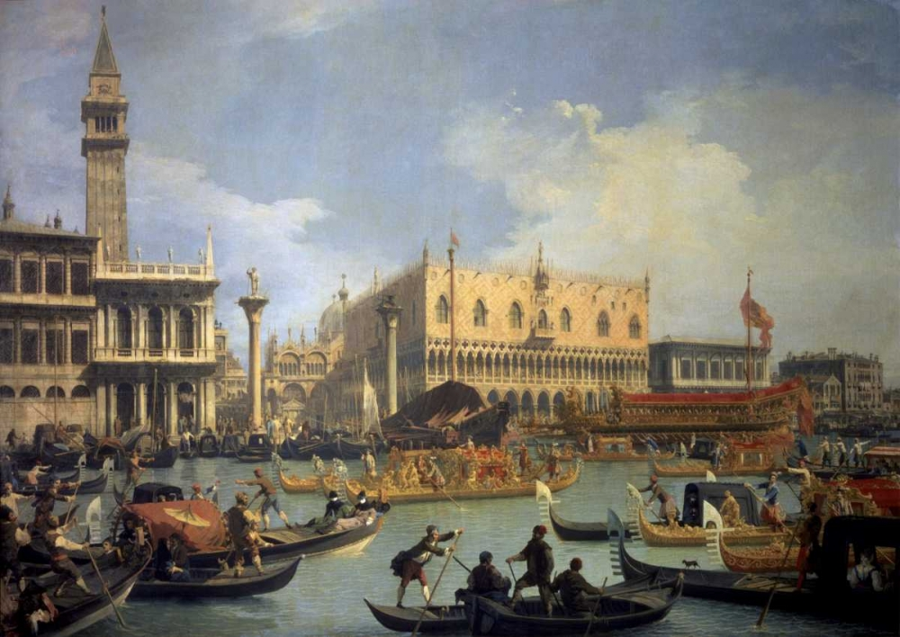 The Betrothal of the Venetian Doge to the Adriatic von Canaletto <br> max. 122 x 86cm <br> Preis: ab 10€