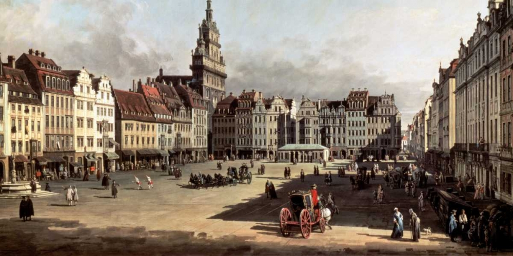 Dresden, the Old Market from Castle Street von Bellotto, Bernardo <br> max. 122 x 61cm <br> Preis: ab 10€