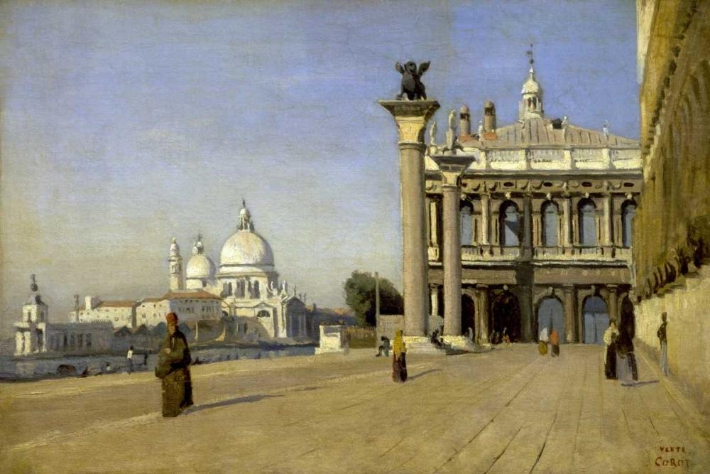 konfigurieren des Kunstdrucks in Wunschgröße Morning in Venice von Corot, Jean-Baptiste-Camille