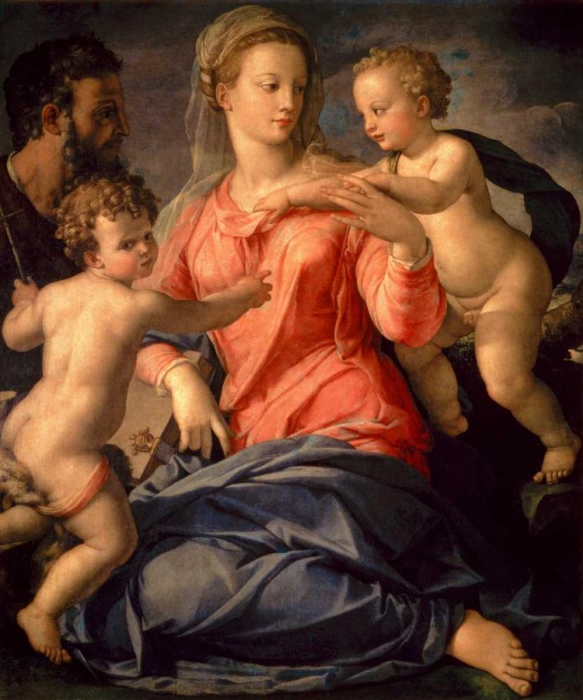 konfigurieren des Kunstdrucks in Wunschgröße The Holy Family von Bronzino, Agnolo