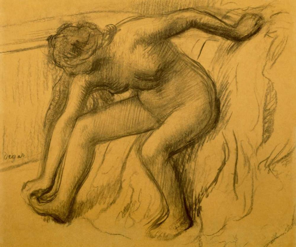 konfigurieren des Kunstdrucks in Wunschgröße After Bath, 1892 von Degas, Edgar