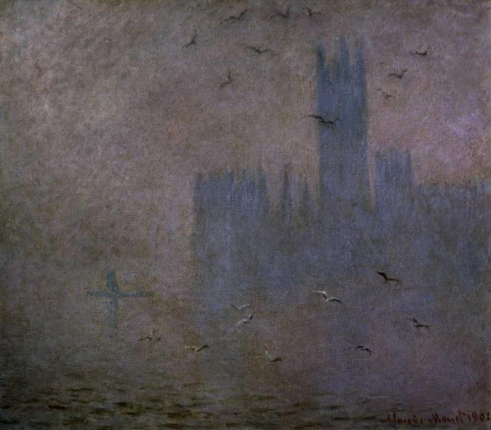 konfigurieren des Kunstdrucks in Wunschgröße Houses of Parliament, Seagulls, 1904 von Monet, Claude