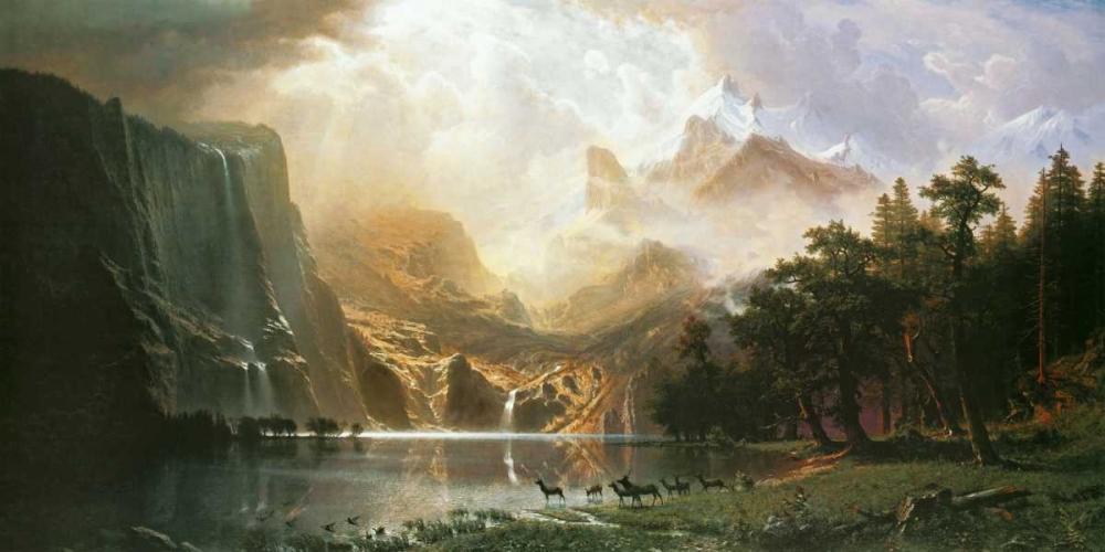 konfigurieren des Kunstdrucks in Wunschgröße Sierra Nevada in California von Bierstadt, Albert