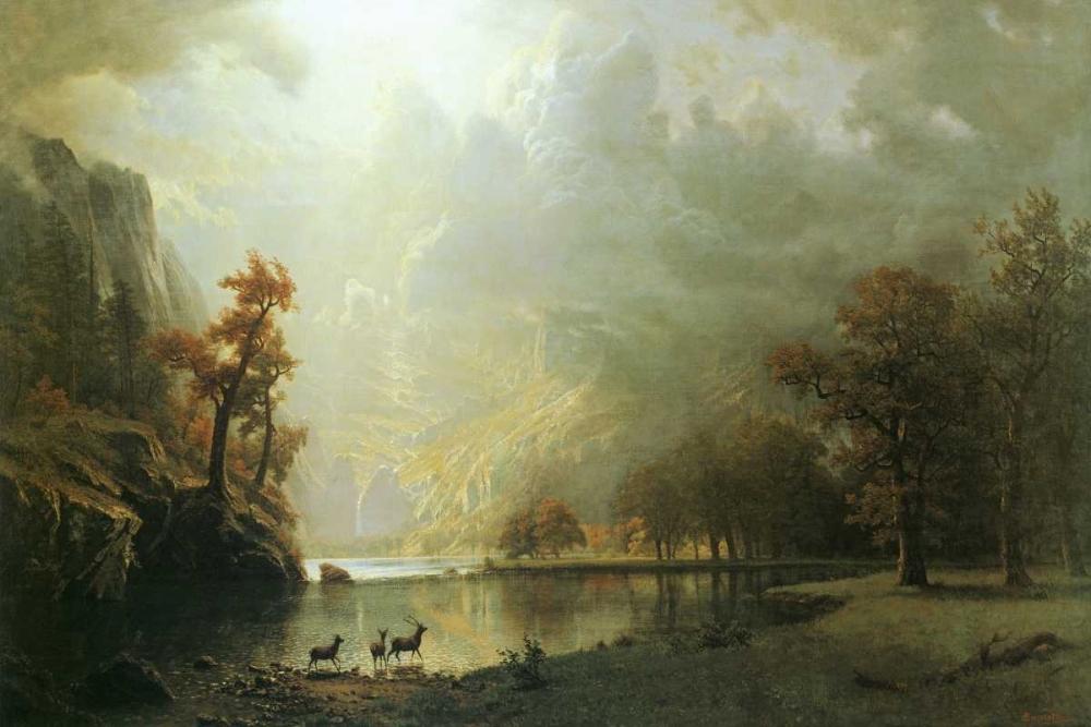 konfigurieren des Kunstdrucks in Wunschgröße Sierra Nevada Morning von Bierstadt, Albert
