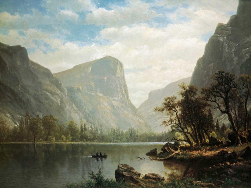 konfigurieren des Kunstdrucks in Wunschgröße Mirror Lake, Yosemite Valley von Bierstadt, Albert