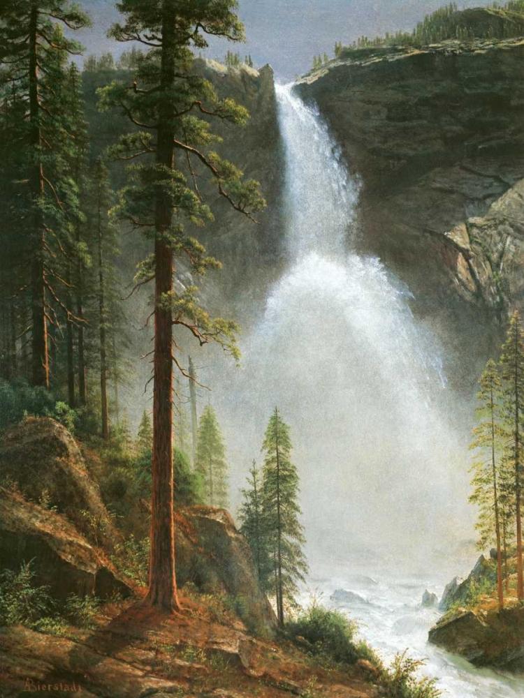 konfigurieren des Kunstdrucks in Wunschgröße Nevada Falls von Bierstadt, Albert