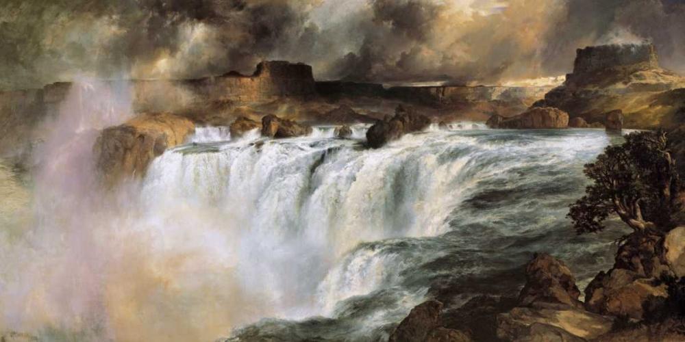 konfigurieren des Kunstdrucks in Wunschgröße Shoshone Falls on the Snake River von Moran, Thomas