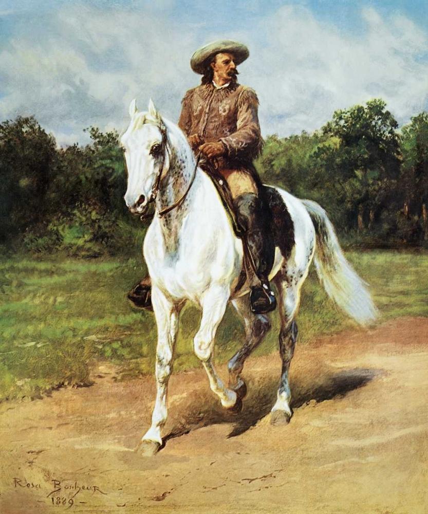 konfigurieren des Kunstdrucks in Wunschgröße Col. William F. Cody (Buffalo Bill) von Bonheur, Rosa