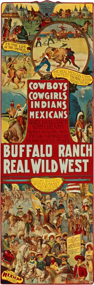 Cowboys, Cowgirls, Indians von Anonymous <br> max. 41 x 122cm <br> Preis: ab 10€