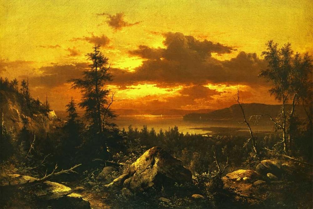 konfigurieren des Kunstdrucks in Wunschgröße Sunset Glow von Bierstadt, Albert