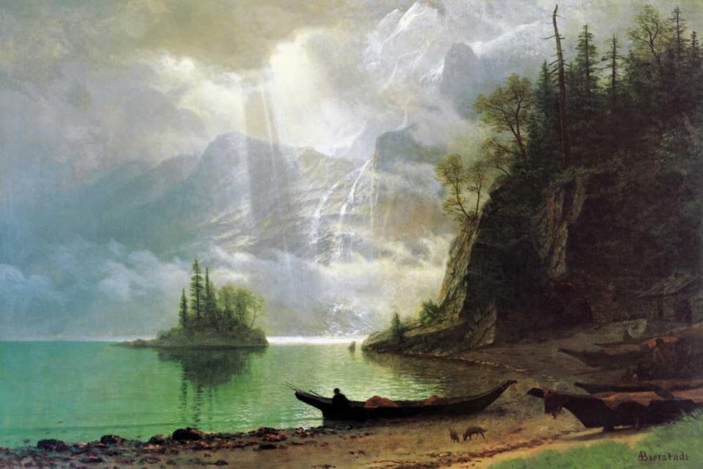 konfigurieren des Kunstdrucks in Wunschgröße The Island von Bierstadt, Albert