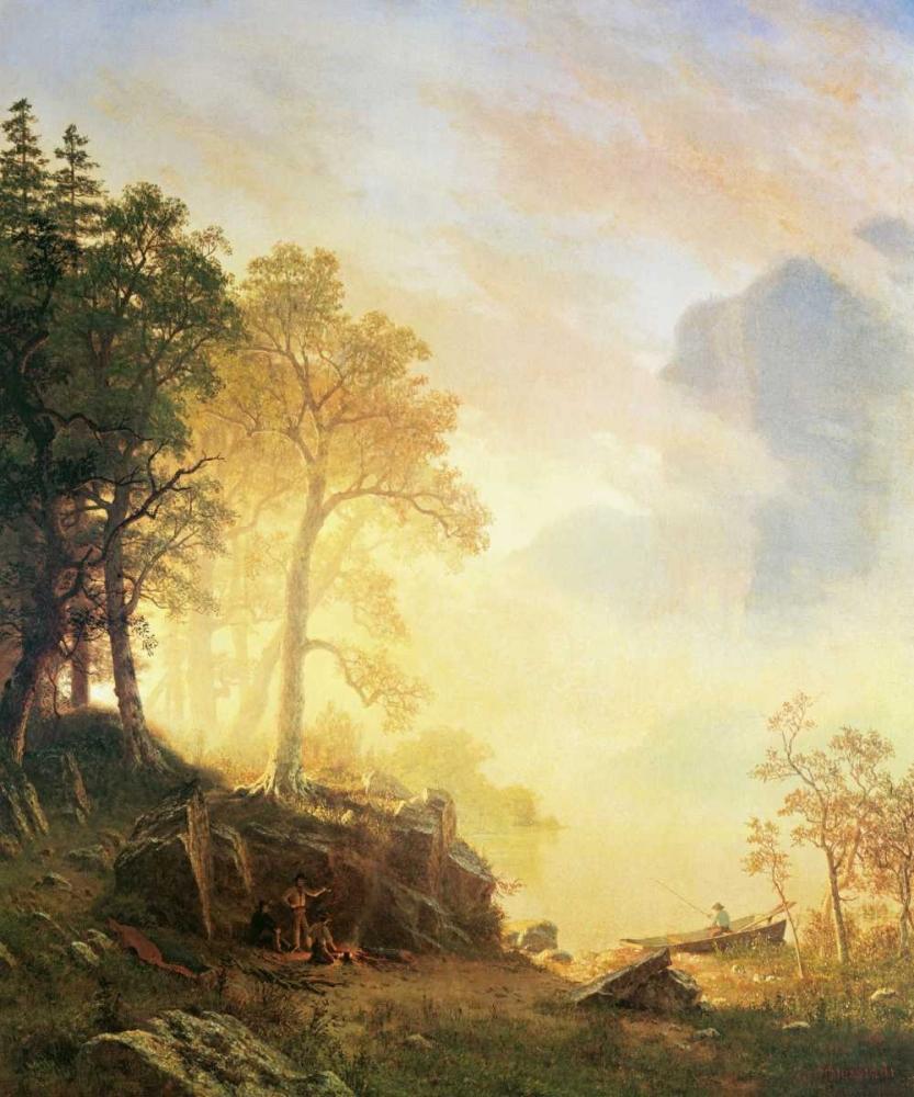 konfigurieren des Kunstdrucks in Wunschgröße Merced River in Yosemite von Bierstadt, Albert