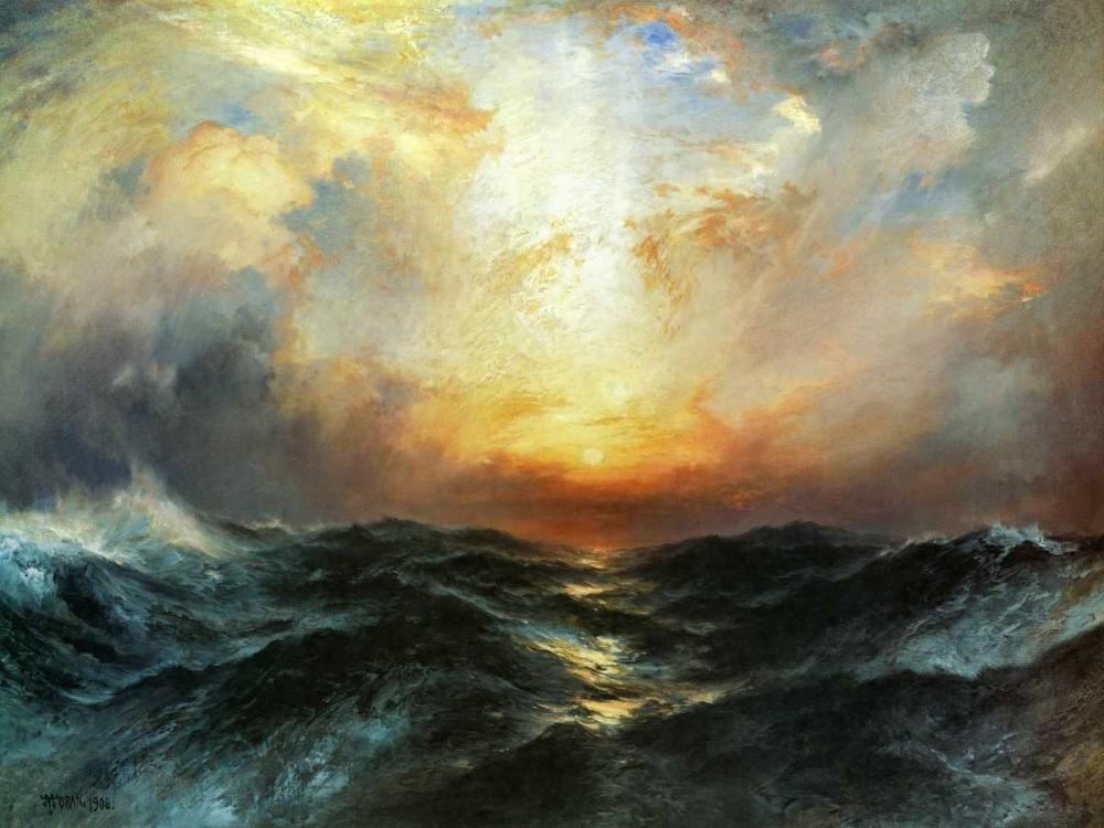 konfigurieren des Kunstdrucks in Wunschgröße Seascape von Moran, Thomas