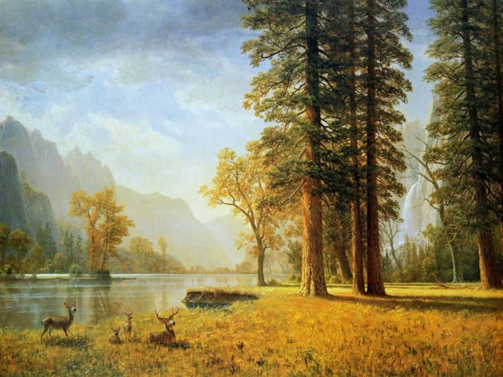 konfigurieren des Kunstdrucks in Wunschgröße Hetch Hetchy Valley, California von Bierstadt, Albert