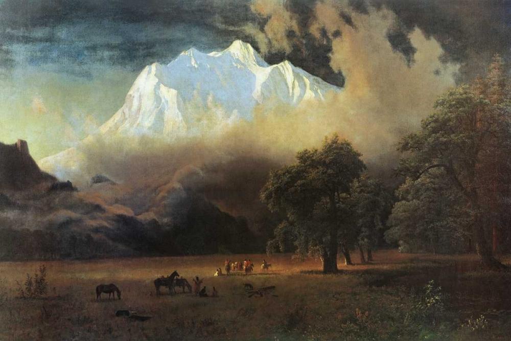 konfigurieren des Kunstdrucks in Wunschgröße Mount Adams, Washington von Bierstadt, Albert