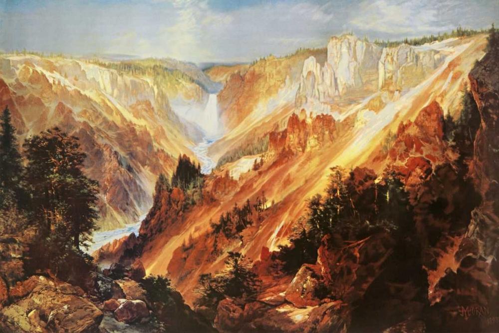 konfigurieren des Kunstdrucks in Wunschgröße The Grand Canyon Of The Yellowstone von Moran, Thomas