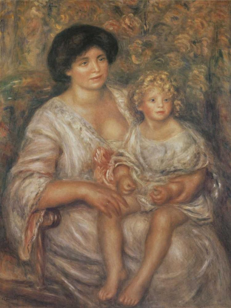 Mother and Child von Renoir, Pierre-Auguste <br> max. 91 x 122cm <br> Preis: ab 10€