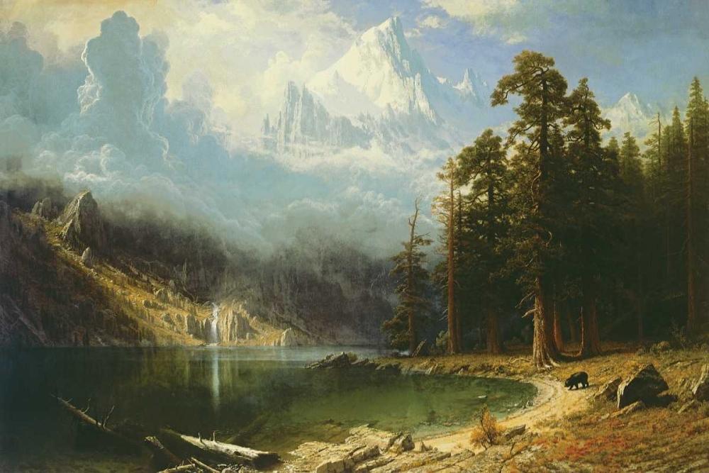 konfigurieren des Kunstdrucks in Wunschgröße Mount Corcoran von Bierstadt, Albert