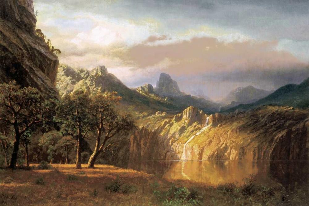 konfigurieren des Kunstdrucks in Wunschgröße In the Valley von Bierstadt, Albert