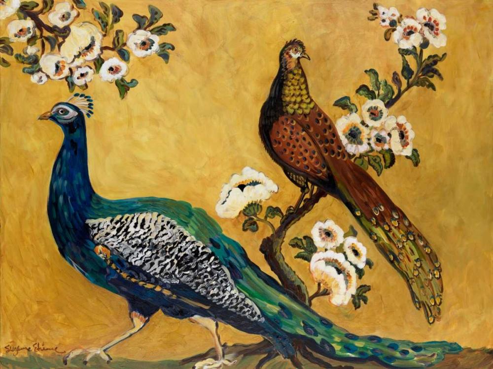 konfigurieren des Kunstdrucks in Wunschgröße Peacocks von Etienne, Suzanne