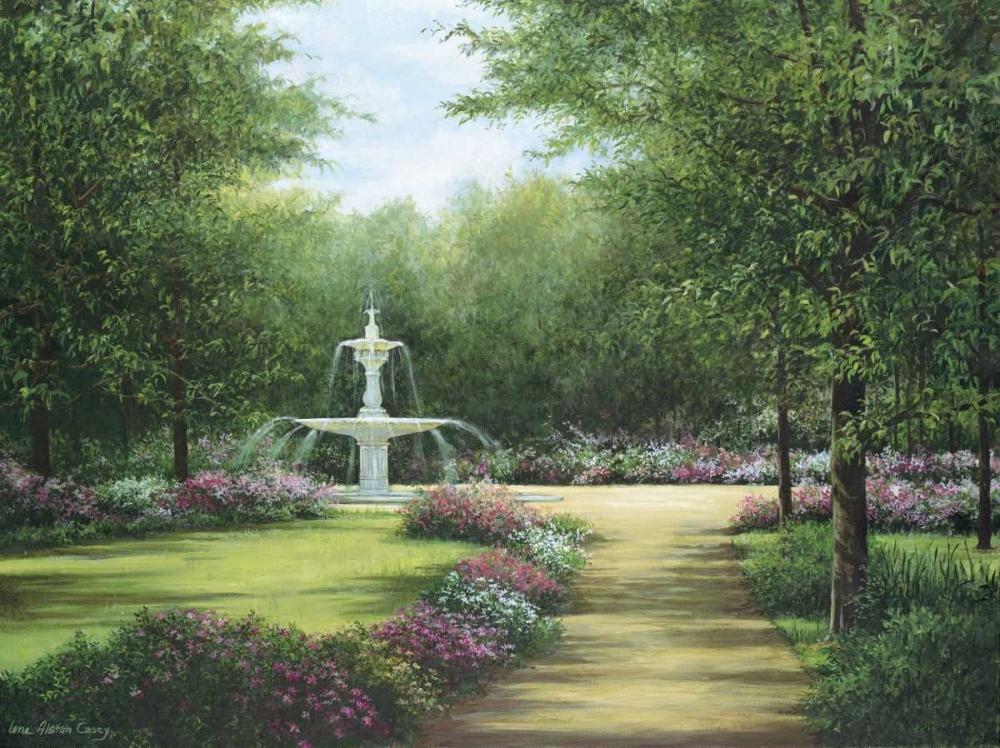 konfigurieren des Kunstdrucks in Wunschgröße Park Fountain von Casey, Lene Alston