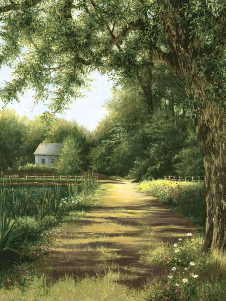 konfigurieren des Kunstdrucks in Wunschgröße Pond House von Casey, Lene Alston