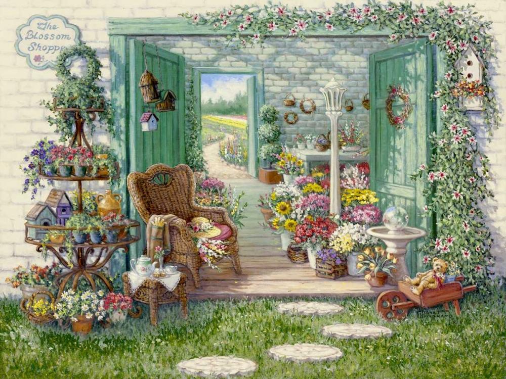 konfigurieren des Kunstdrucks in Wunschgröße The Blossom Shoppe von Kruskamp, Janet
