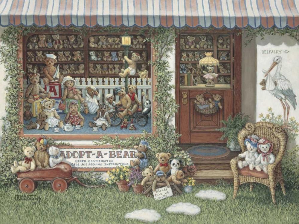 konfigurieren des Kunstdrucks in Wunschgröße Adopt-A-Bear von Kruskamp, Janet