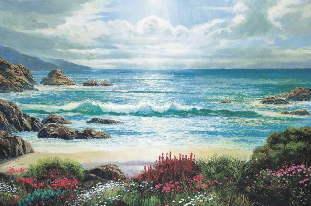 konfigurieren des Kunstdrucks in Wunschgröße Blossoms By The Ocean von Mirkovich, N.