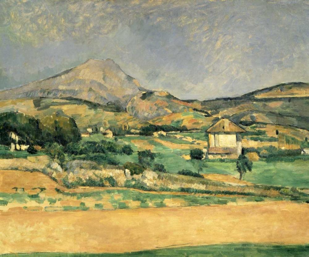 konfigurieren des Kunstdrucks in Wunschgröße A View Over Mont St. Victoire von Cezanne, Paul