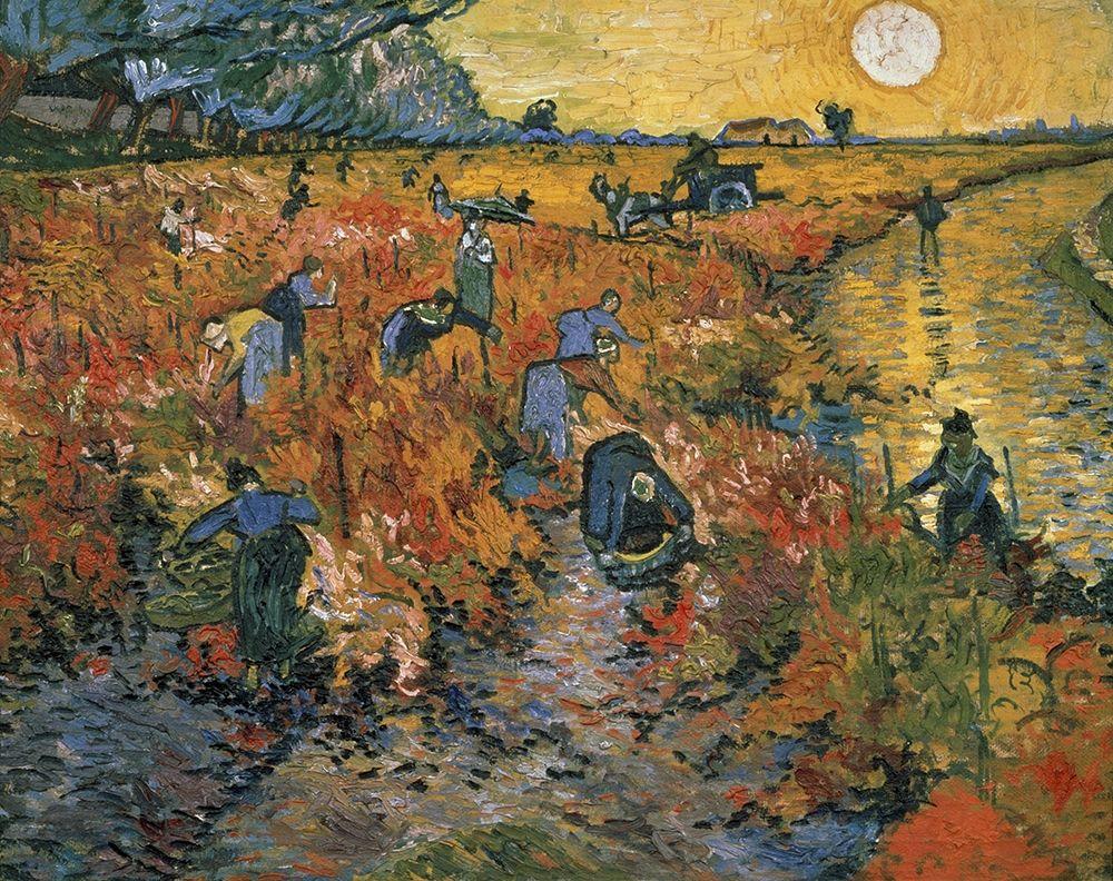 konfigurieren des Kunstdrucks in Wunschgröße The Red Vineyard at Arles, 1888 von Van Gogh, Vincent