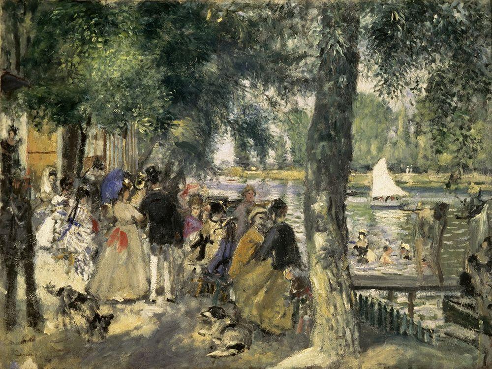 konfigurieren des Kunstdrucks in Wunschgröße Bathing on the Seine von Renoir, Pierre-Auguste