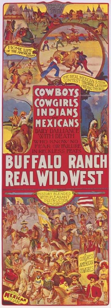 Cowboys, Cowgirls, Indians von Anonymous <br> max. 10 x 30cm <br> Preis: ab 10€