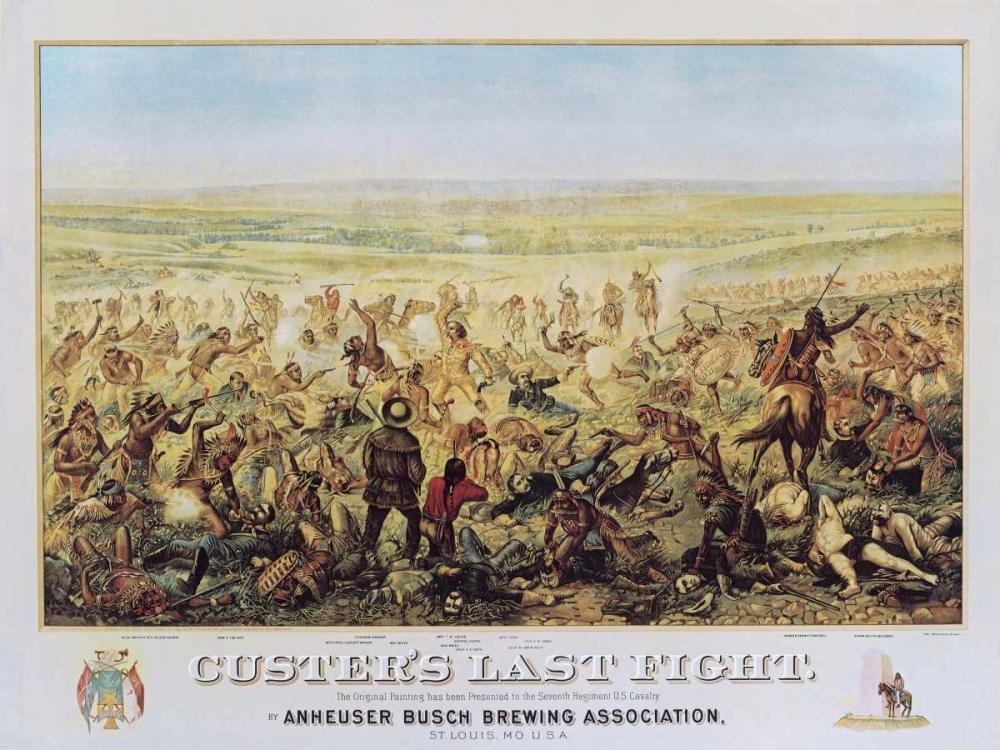 konfigurieren des Kunstdrucks in Wunschgröße Custers Last Fight von Annenkov, Jurij Pavlovic