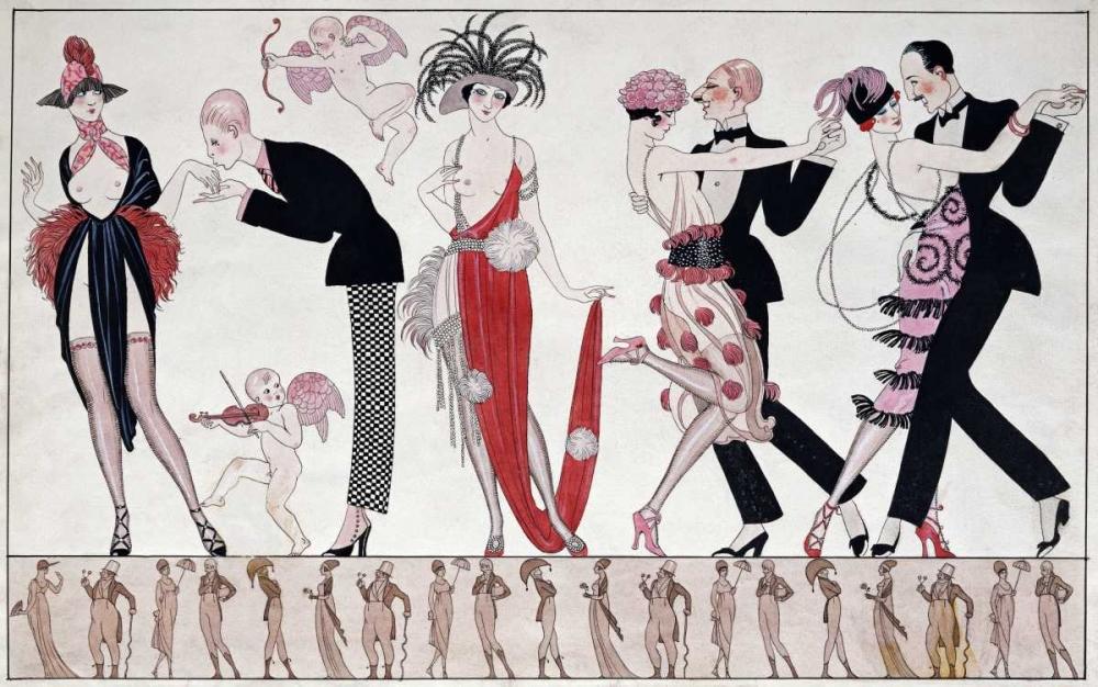 konfigurieren des Kunstdrucks in Wunschgröße The Tango von Barbier, Georges
