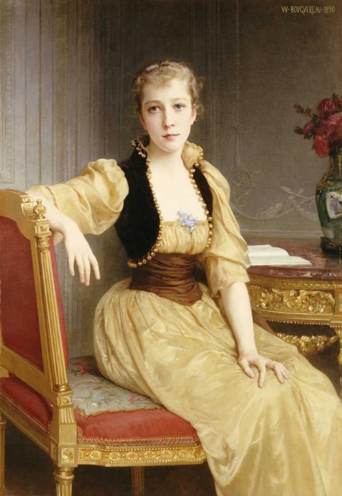 konfigurieren des Kunstdrucks in Wunschgröße Lady Maxwell von Bouguereau, William-Adolphe