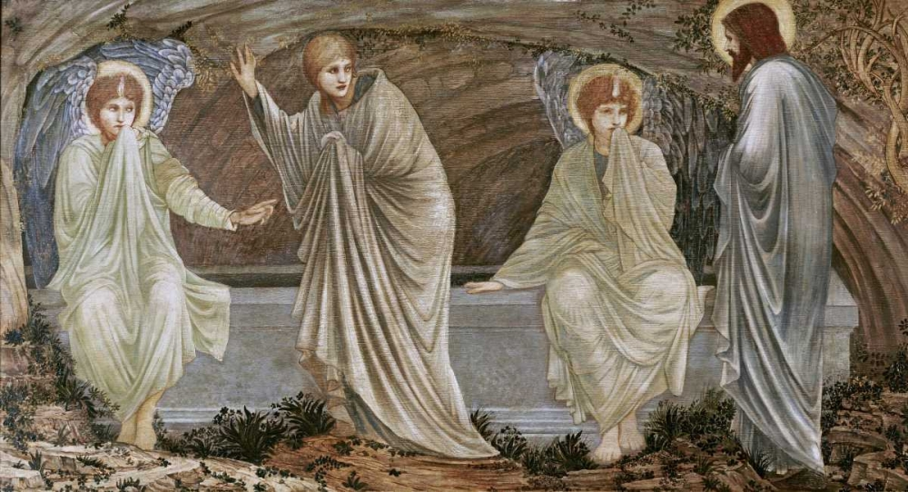 konfigurieren des Kunstdrucks in Wunschgröße The Morning of The Resurrection von Burne-Jones, Sir Edward
