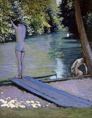 konfigurieren des Kunstdrucks in Wunschgröße Bather About To Plunge Into The River Lyrres von Caillebotte, Gustave