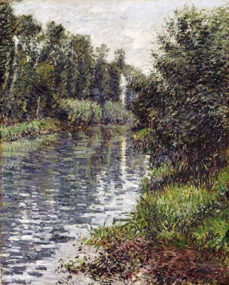 konfigurieren des Kunstdrucks in Wunschgröße A Small Branch of The Seine, Argenteuil von Caillebotte, Gustave