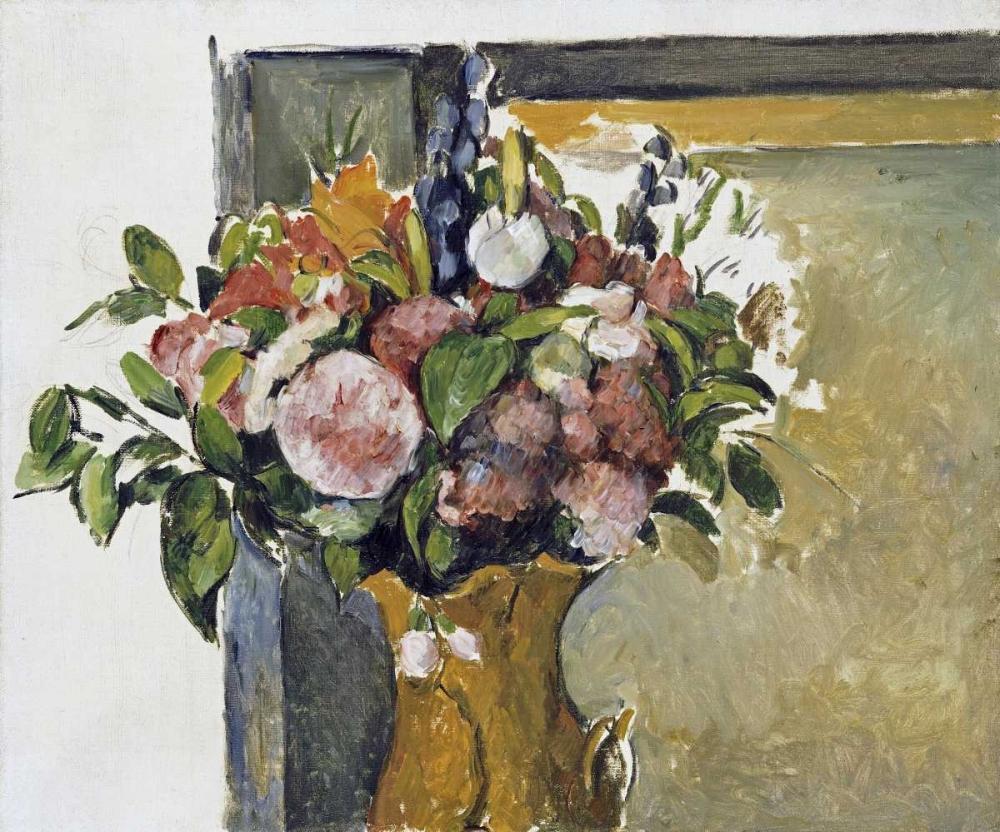 konfigurieren des Kunstdrucks in Wunschgröße Flowers In a Vase von Cezanne, Paul